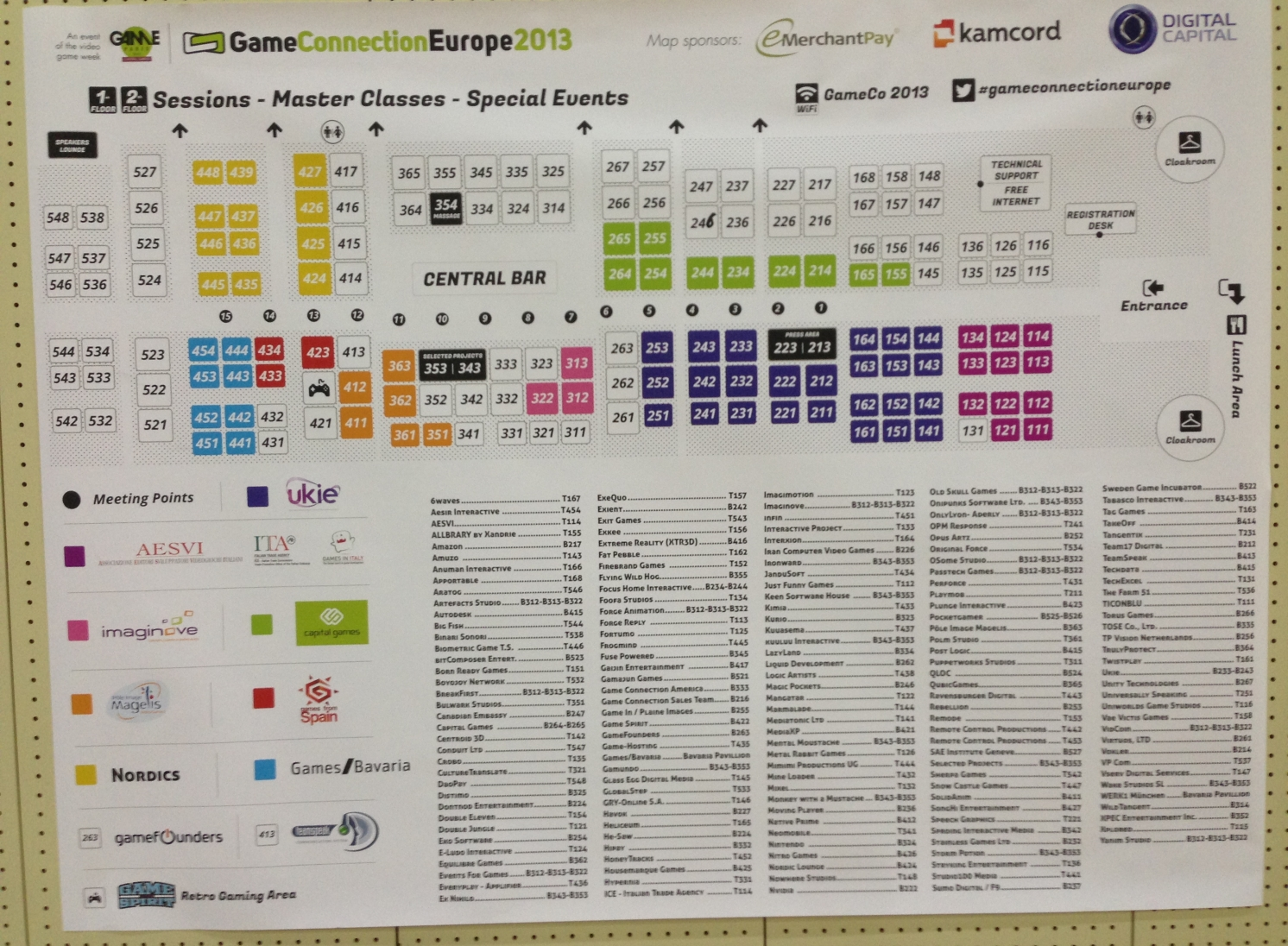 GC Europe conference map