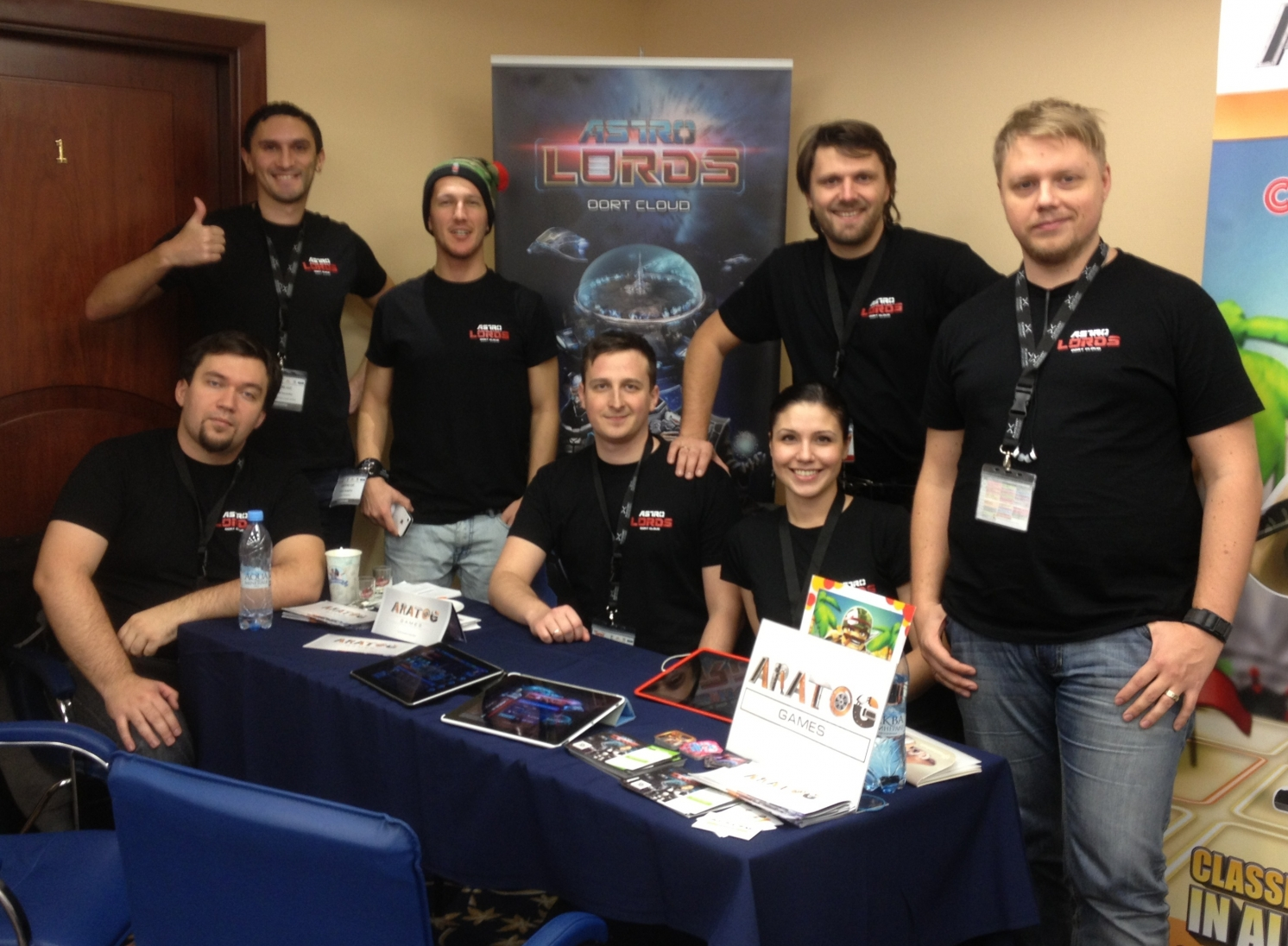 AstroLords team at DevGAMM conference